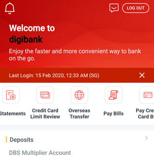 DBS Mobile App Overseas Money Transfer
